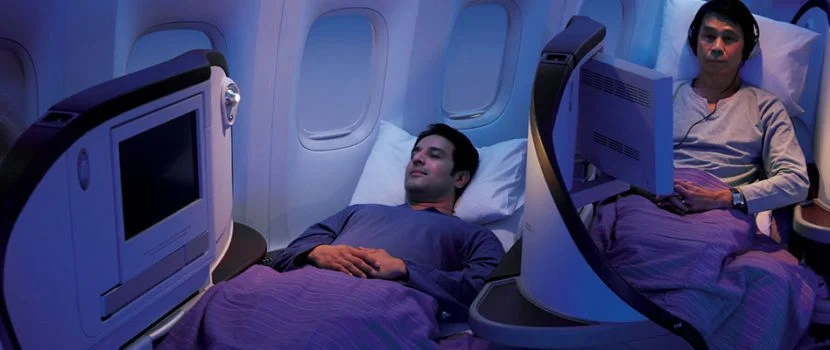 Jet Airways' international Premiere class seat.