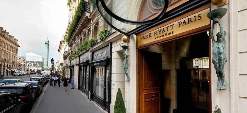 Stay near the Champs-Élysées in Paris at the luxe Park Hyatt Paris-Vendôme. (Image courtesy of hotel's Facebook.)