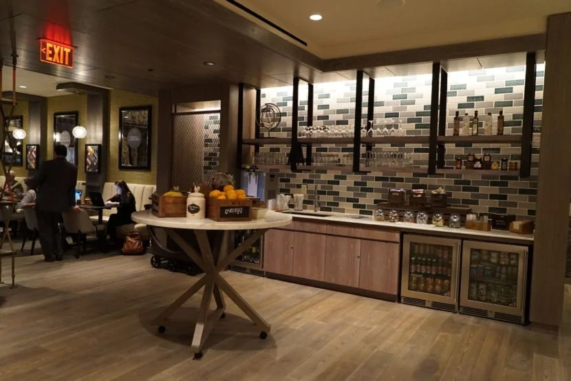 A small section of the M Club Lounge's kitchen.