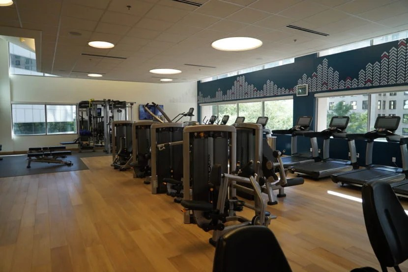 The large gym at the M Beta.