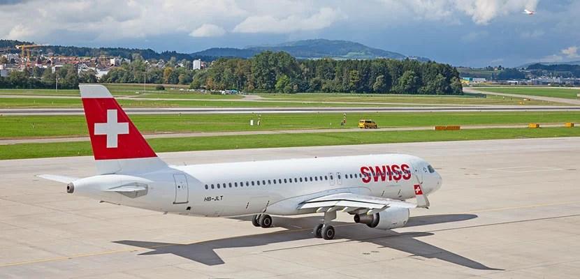 Swiss on runway.