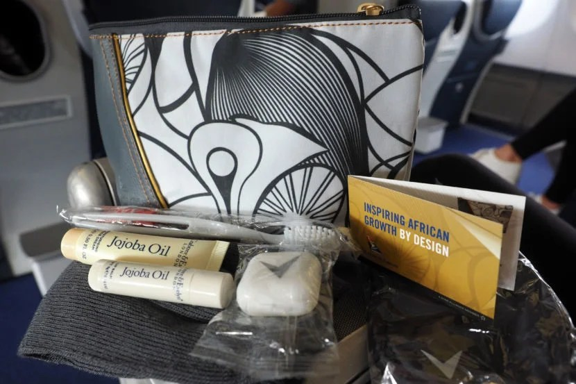 The amenity kit featured all of the basics.