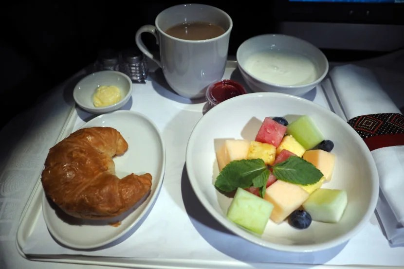 The fruit wasn't the freshest, and the croissant a bit hard, but all tasted pretty good.