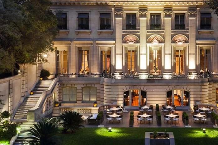 The grand exterior of the Palacio Duhau - Park Hyatt Buenos Aires.