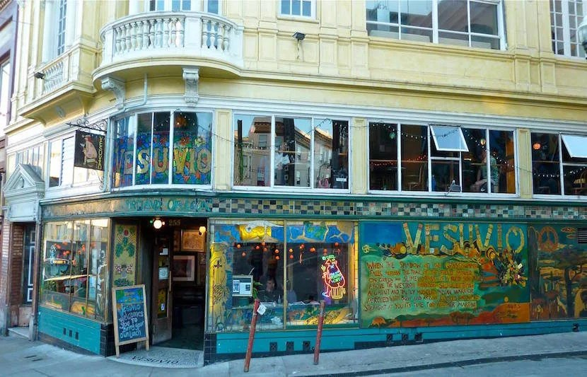 "Grab a drink at this quirky and cool gem in North Beach. Image courtesy of Vesuvio Cafe's <a href=""https://www.facebook.com/46326712517/photos/a.458484962517.274186.46326712517/10154351496877518/?type=3&theater"">Facebook page</a>."