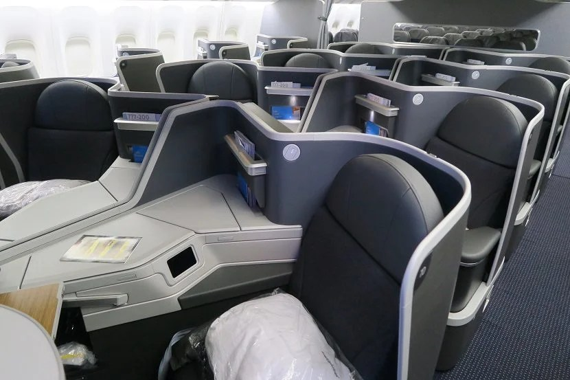 Middle seats in business class on the 777-200 new retrofit.