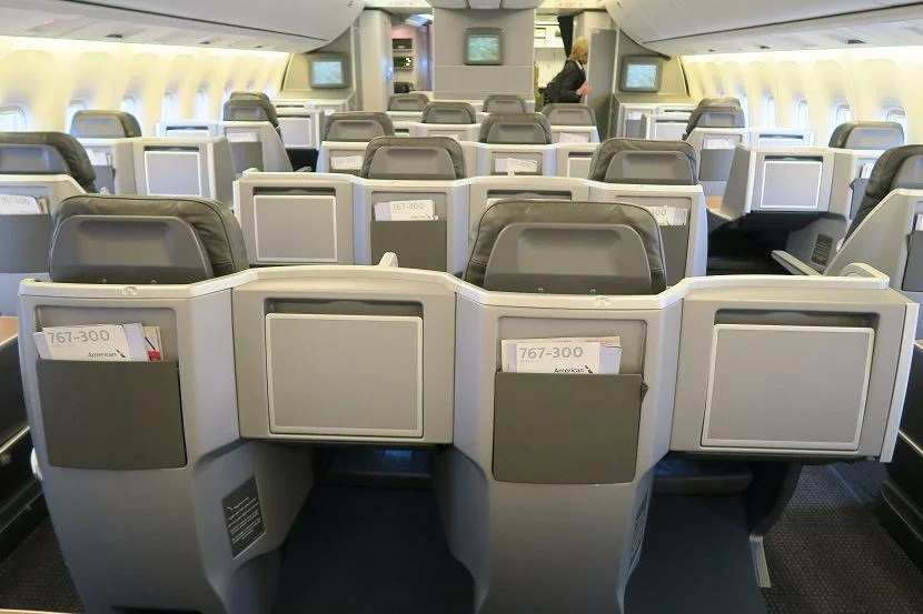There's no built-in in-flight entertainment screens in business class.