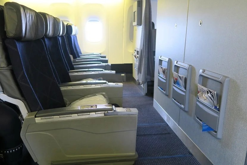 Plenty of knee room available in the bulkhead row 12.