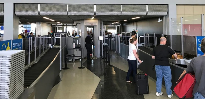 American Airlines Automated TSA Check Point