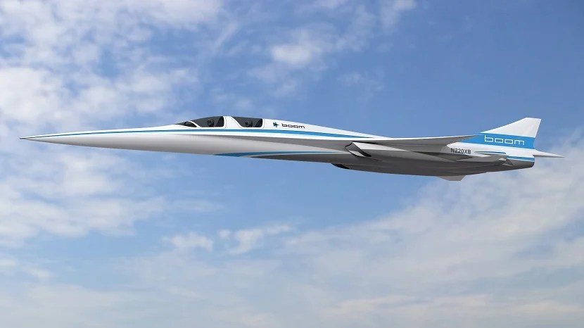 The two-seat XB-1 supersonic demonstrator.
