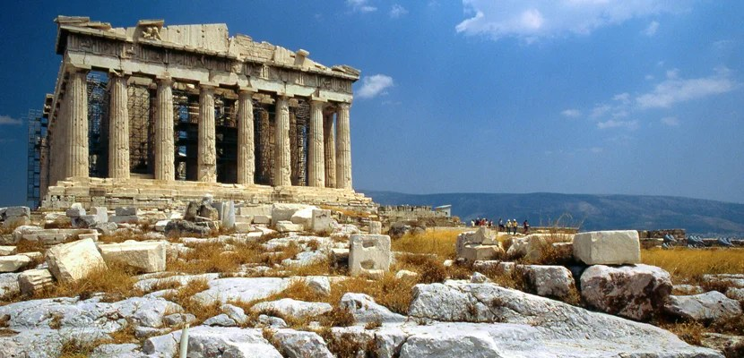 Parthenon in Athens, Greece. Image courtesy of Copywrite M.E. Wilcox via Getty Images.