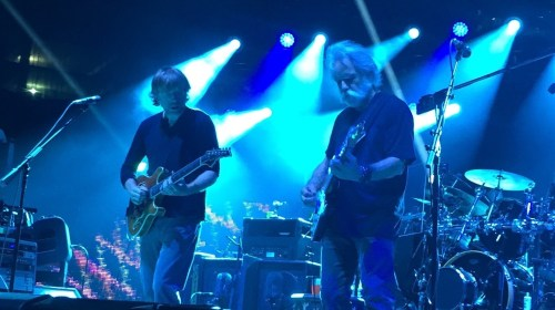 Bob Weir playing in the band, with Phish