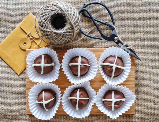 Easter hot cross bun truffles