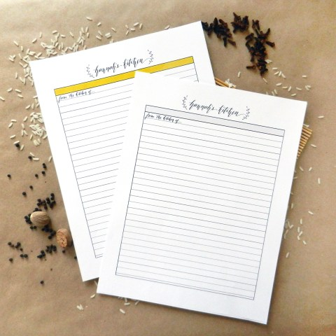 Custom Caligraphy Recipe Template | The Postman's Knock