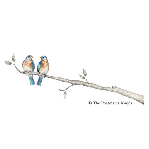Two Bluebirds Digital Design Element | The Postman's Knock