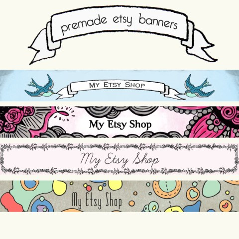 Premade Etsy Banner | The Postman's Knock