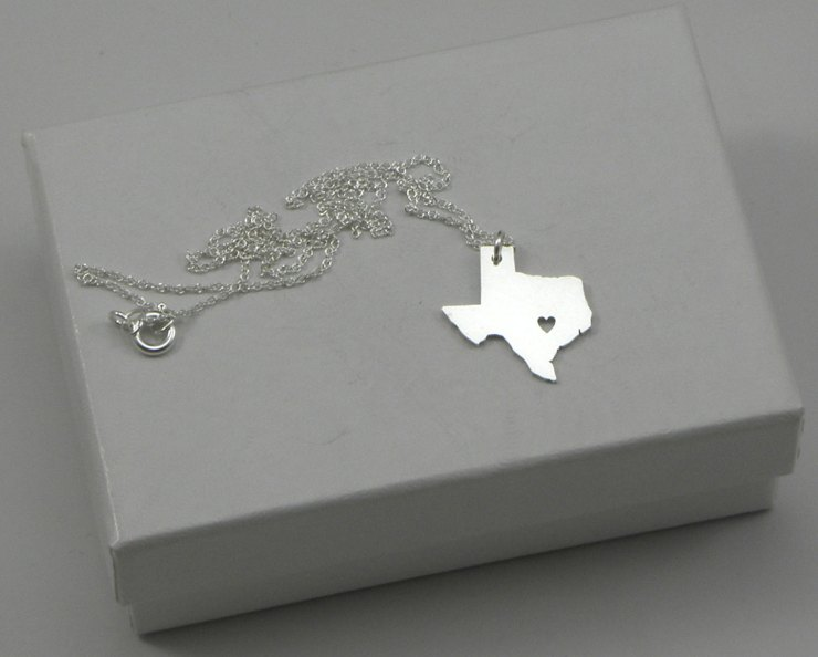Cut-Out State Necklace | The Postman's Knock