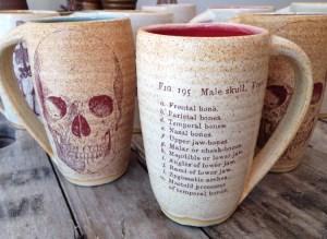 Jennifer Creighton Skull Cups