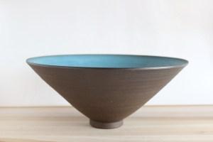 Julia Paul Dark Auqua Slope Bowl