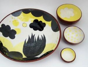 Susan Simonini Plate with Bowls
