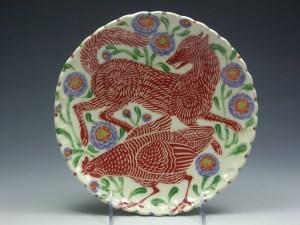 Sue Tirrell Fox & Chicken Plate