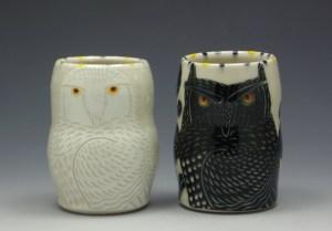 Sue Tirrell Owl Wine Cups
