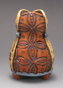 Amy Sanders red front preggy vase