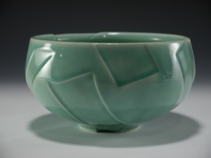 Steve Kelly Large celadon bowl