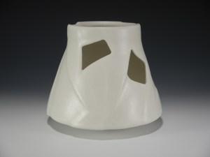Steve Kelly White cutout vase