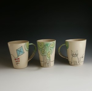 Heidi Fahrenbacher Kitty and Kite Cups