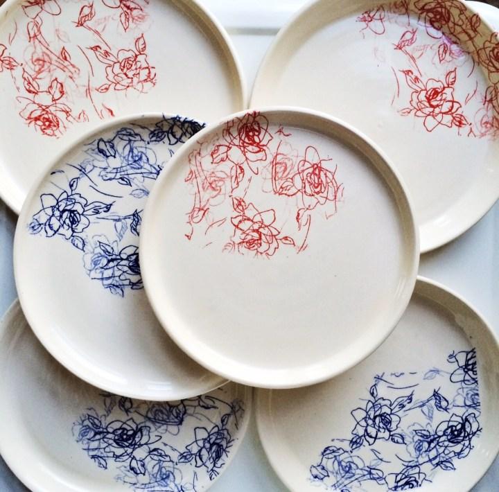 Melina LaVecchia Floral Doodle Plates