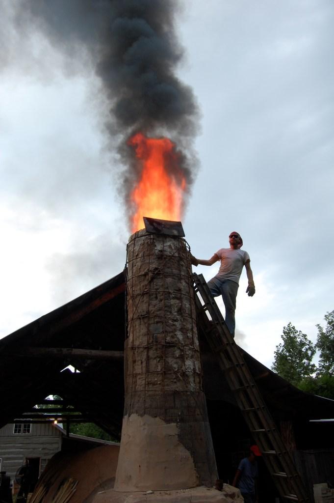 Daniel Johnston on a Ladder