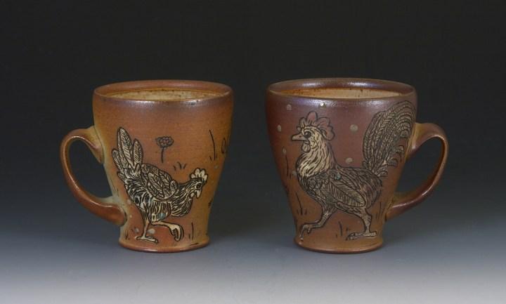 Jordan Jones chicken and rooster cups