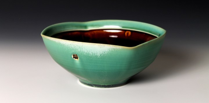 Nick DeVries dark green bowl