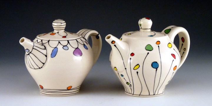 Emily Free Wilson Tea Pots