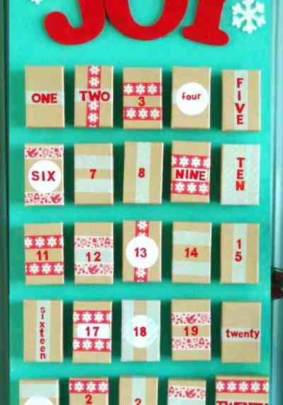 Diy christmas advent calendar ideas How to build a wooden advent calendar