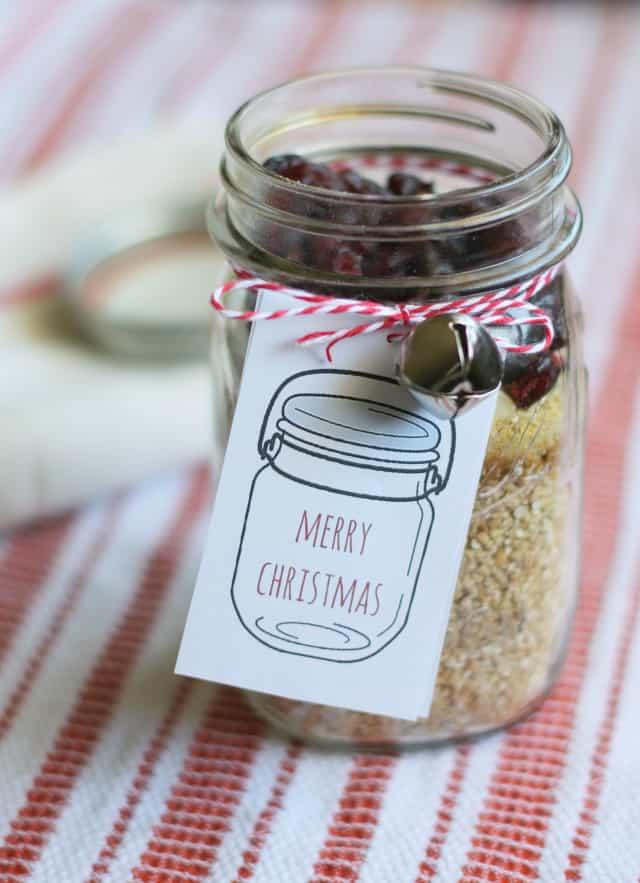 gifts in a jar steel cut oats