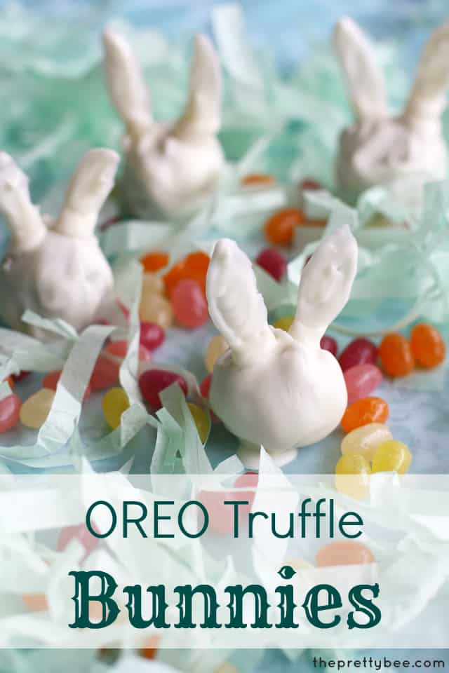 Make adorable little white bunny OREO truffles this Easter!