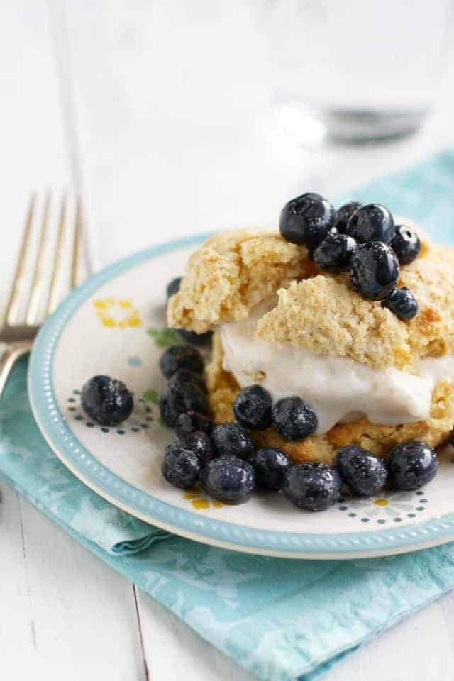 A lovely summer dessert - super simple blueberry shortcakes.