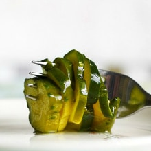 Easy refrigerator sweet pickle recipe.