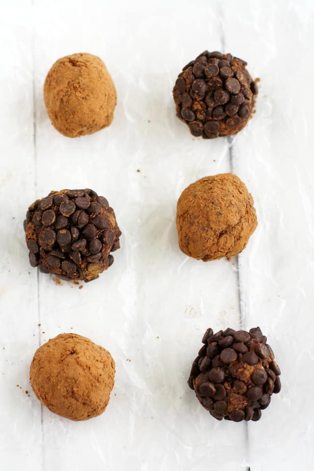 Dried Plum Chocolate Truffle Energy Bites