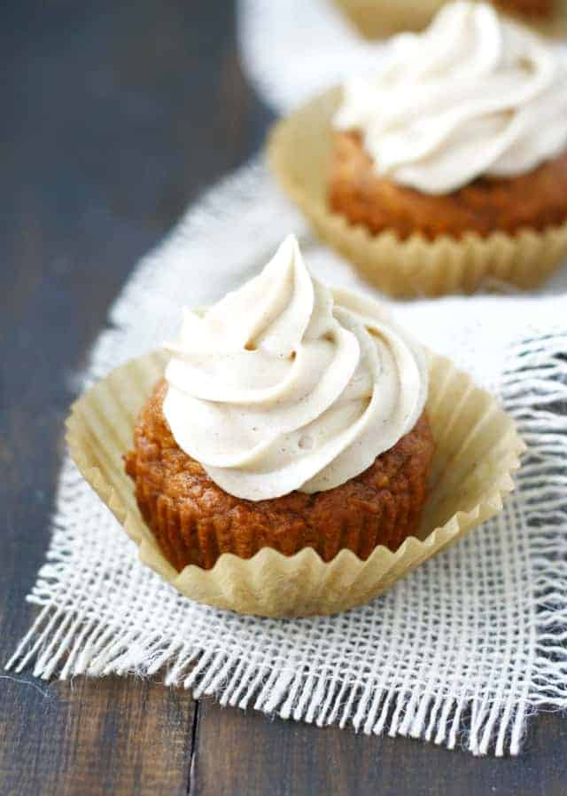 Lovely pumpkin spice cupcakes topped with sweet spiced buttercream for ...