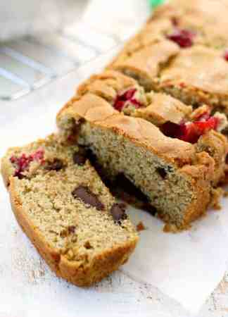 This cranberry chocolate chunk quick bread is gluten free and vegan, and so delicious for holiday gift giving!