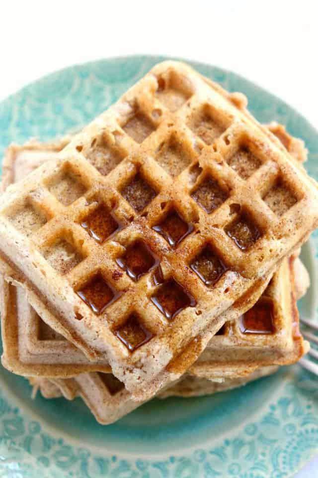 Cinnamon Sugar Egg Free Waffles. - The Pretty Bee