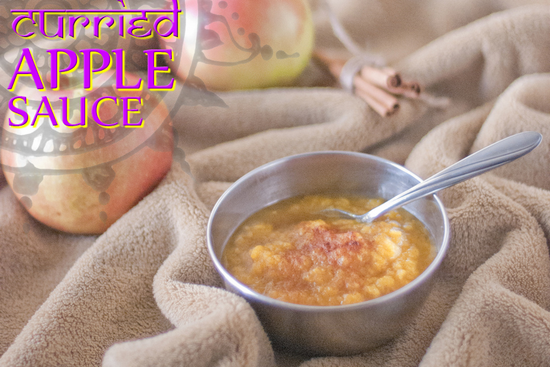 Curried Apple Sauce by The Primal Desire - featured at Natural Family Friday