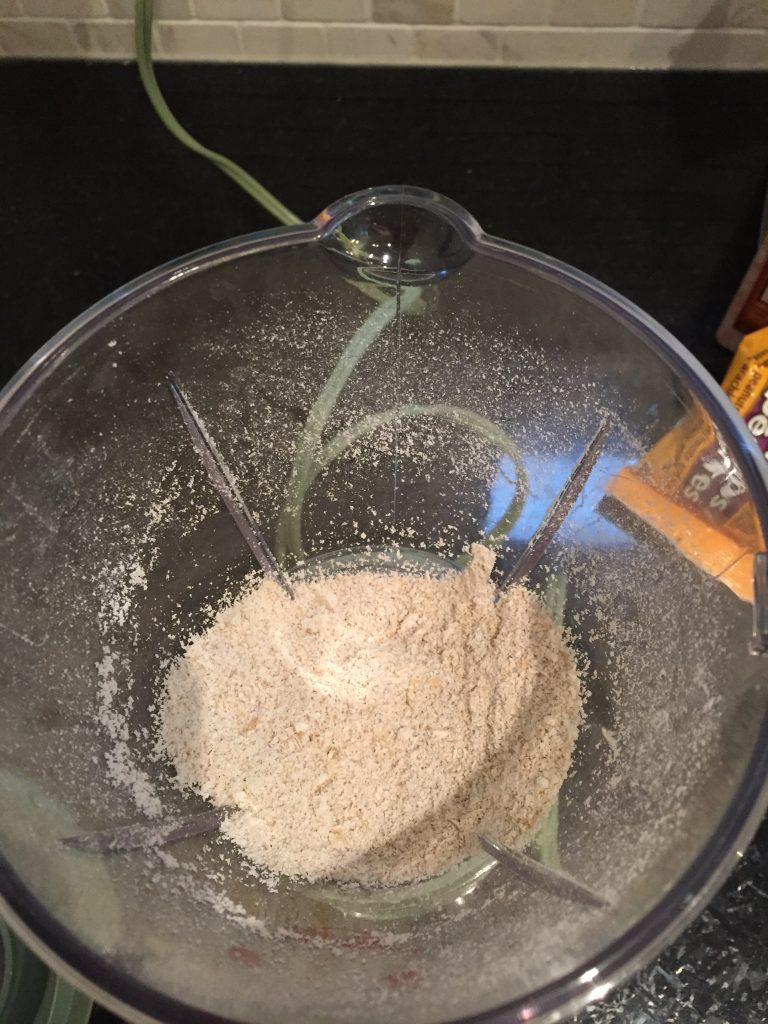 ground oats for LID vegan gluten free muffins