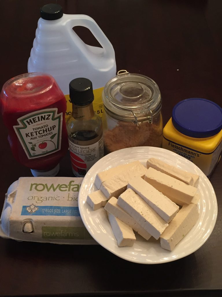 ingredients needed to make sweet and sour tofu
