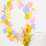 Autumn All Day \\ DIY Paper Leaf Wreath