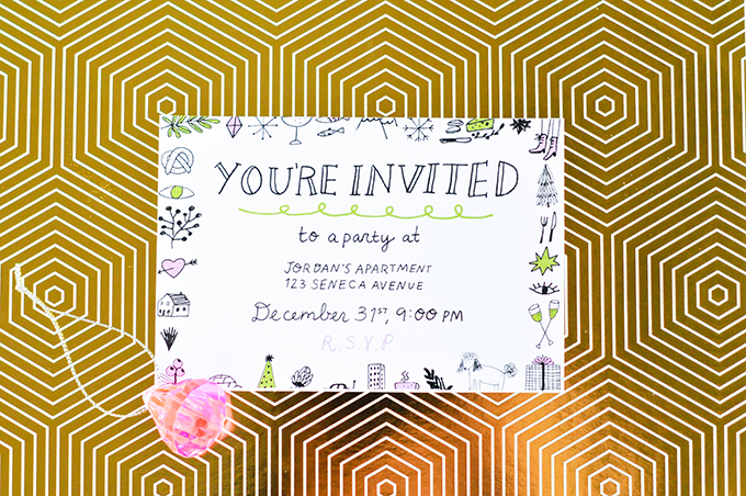 Printable New Year's Eve Party Invitations