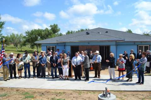 Gathering of Officials for Ribbon Cutting